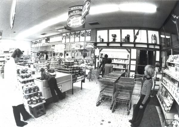 1979 Laden Eingang Passage mit Drehkreuz